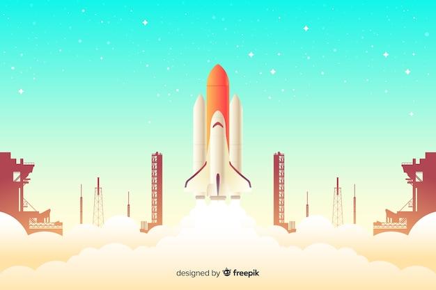 Tło rakiety gradientu