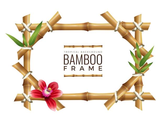 Tło ramki bambusa.