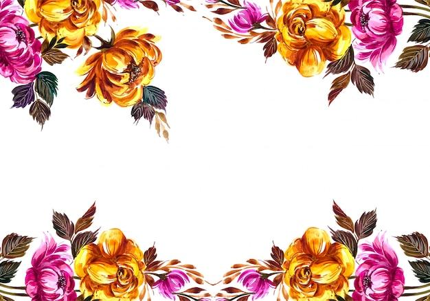 Tło ramki kwiatowy