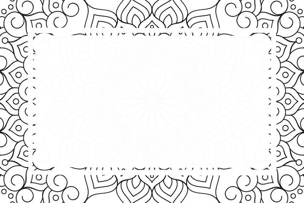 Tło ramki luksusowych ozdobnych mandali