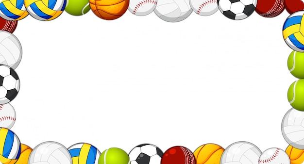 Tło ramki sportowe piłkę
