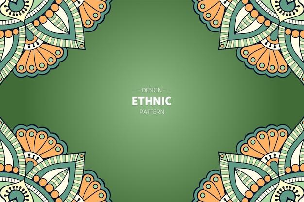 Tło ramki z orientalną mandalą