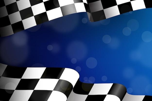 Tło realistyczne wyścigi w kratkę flaga