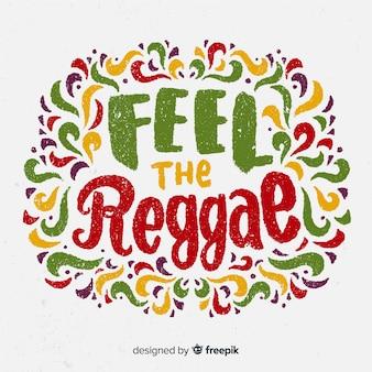 Tło reggae liter