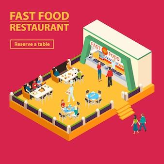 Tło restauracji fast food