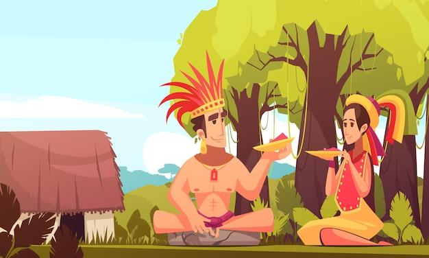 Tło rodzinne maya
