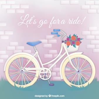 Tło rowerów z cytatem