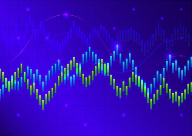 Tło rynku akcji lub rynku forex