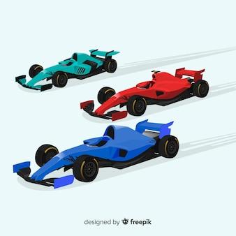 Tło samochodów wyścigowych formuły 1