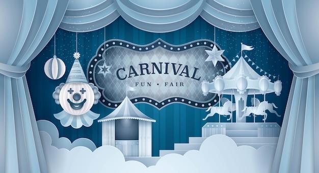 Tło sceny premium carnival