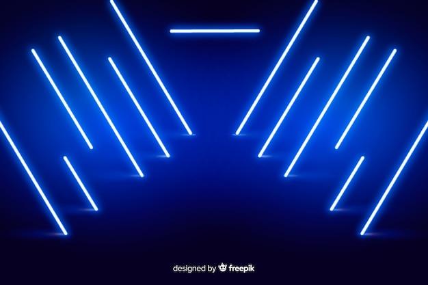 Tło sceny światła neonowe