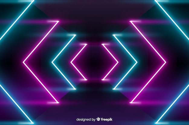 Tło sceny z neonów