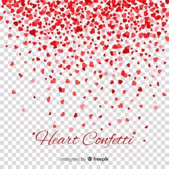 Tło serce konfetti