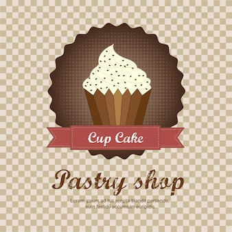 Tło sklep ciasta z ilustracji wektorowych ciasto