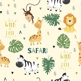 Tło słodkie safari