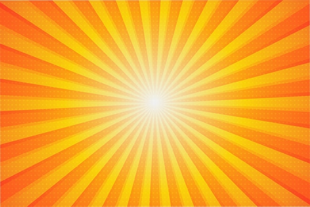 Tło słoneczne lato. promienie słoneczne, które latem rozprzestrzeniają się z centrum.