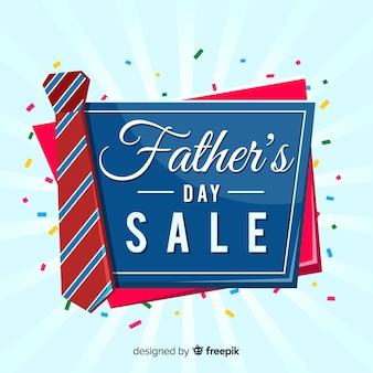 Tło sprzedaż płaski dzień ojca