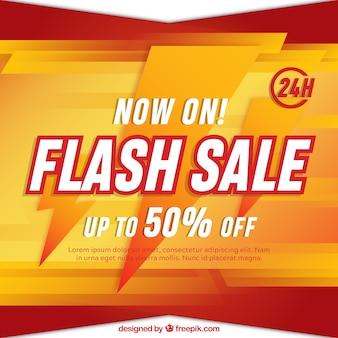 Tło sprzedaży flash w stylu gradientu