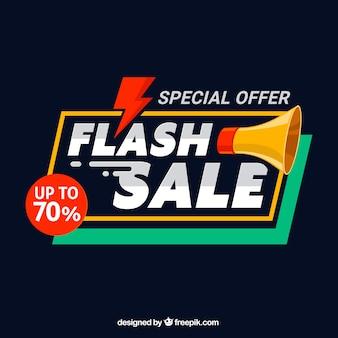 Tło sprzedaży flash w stylu płaski