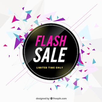 Tło sprzedaży flash