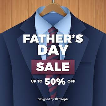 Tło sprzedaży realistyczne dzień ojca