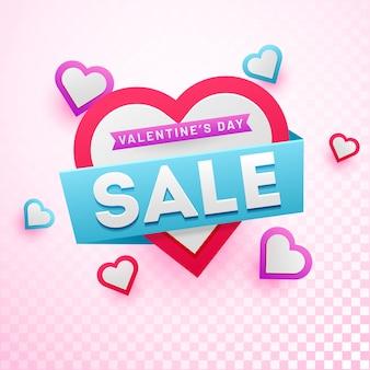 Tło sprzedaży valentine's day.