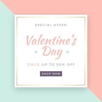 Tło sprzedaży valentine's day