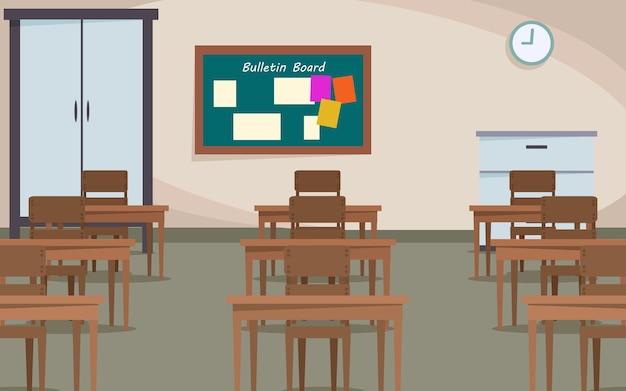 Tło środowiska ucznia classrom