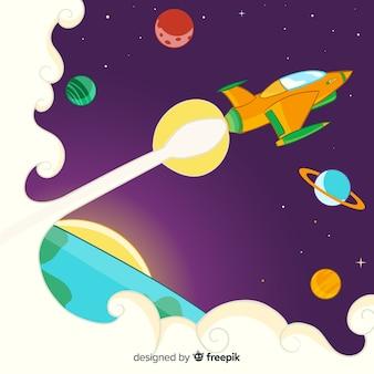 Tło statku kosmicznego
