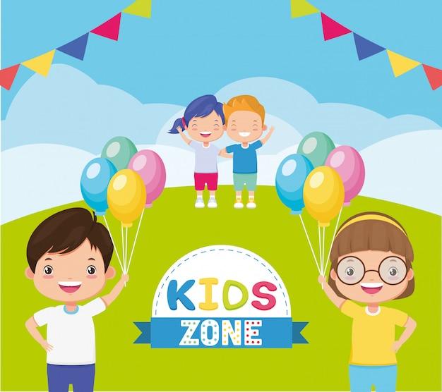 Tło strefy dla dzieci