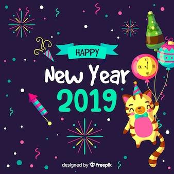 Tło strony nowy rok
