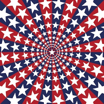 Tło sunburst amerykańskiej flagi z gwiazdami i paskami symbolizującymi 4 lipca dzień niepodległości
