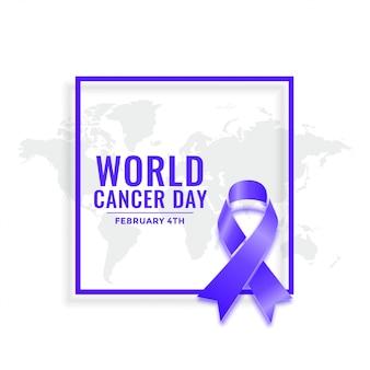 Tło świadomości 4 lutego światowego dnia raka
