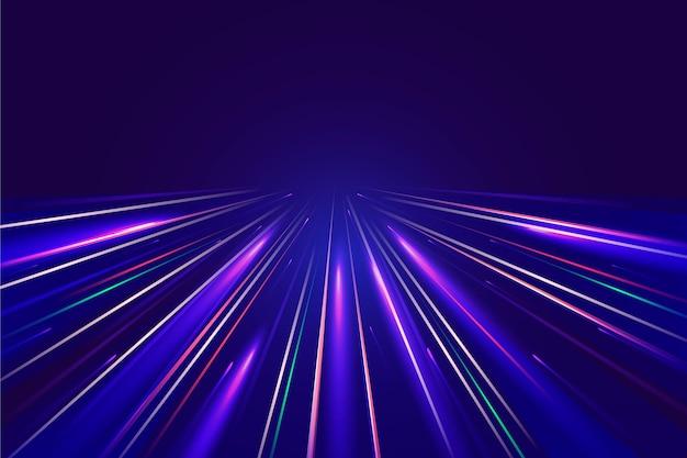 Tło światła prędkości