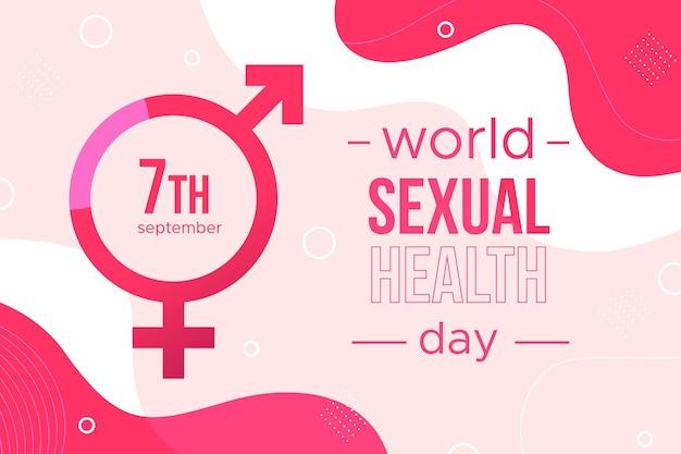 Tło światowego dnia zdrowia seksualnego z objawami płci