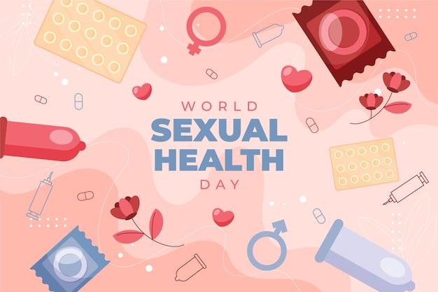 Tło światowego dnia zdrowia seksualnego