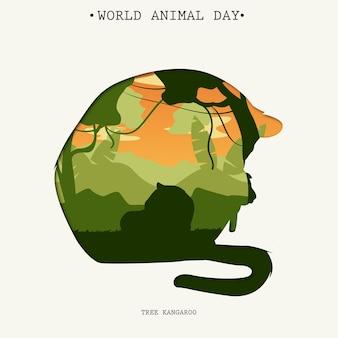 Tło światowego dnia zwierząt