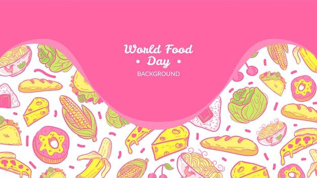 Tło światowego dnia żywności