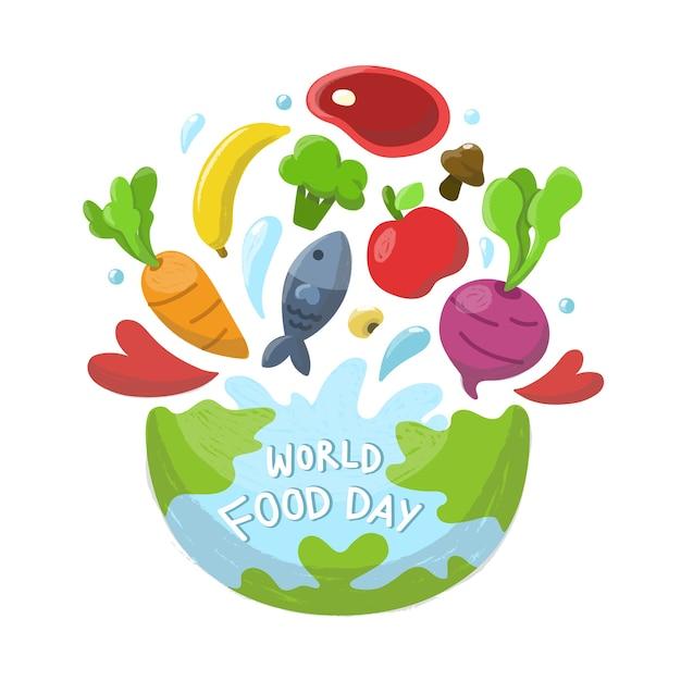 Tło światowego dnia żywności.