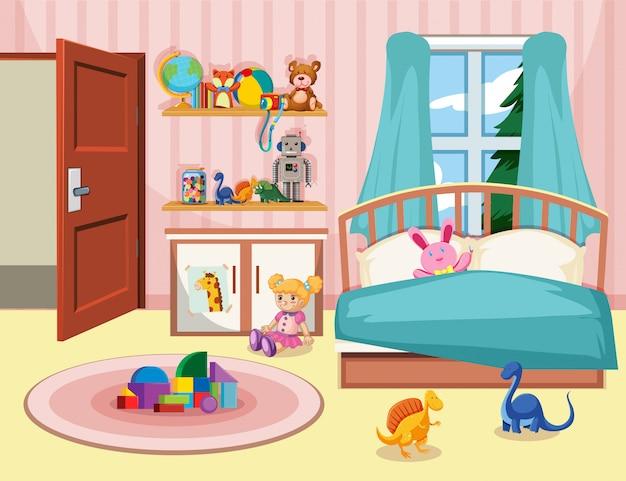 Tło sypialnia dzieciaka