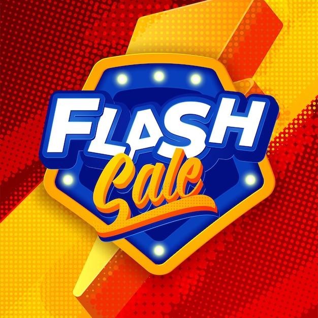 Tło szablonu baneru sprzedaży flash