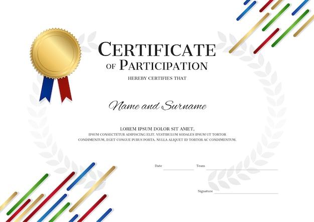 Tło szablonu certyfikatu