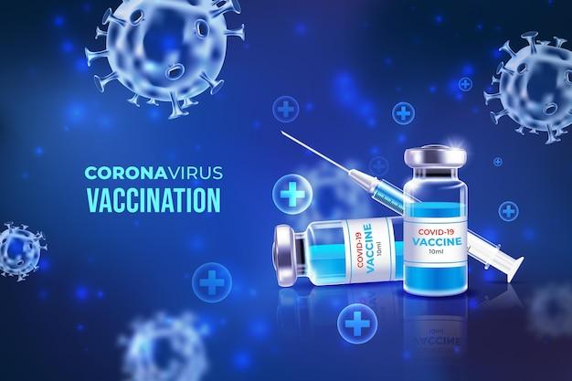 Tło szczepienia koronawirusem