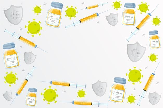 Tło szczepionki koronawirusa kreskówka