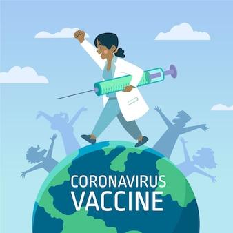 Tło szczepionki przeciwko koronawirusowi