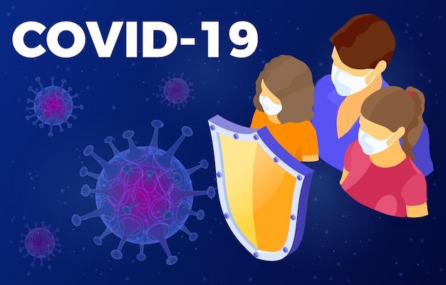 Tło szczepu koronawirusa