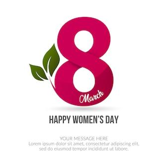 Tło szczęśliwego dnia kobiet