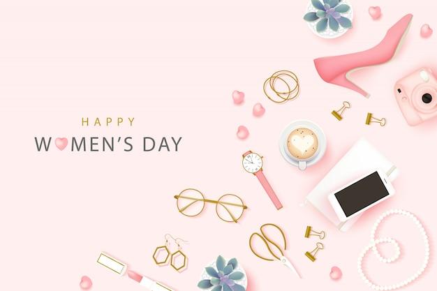 Tło szczęśliwego międzynarodowego dnia kobiet