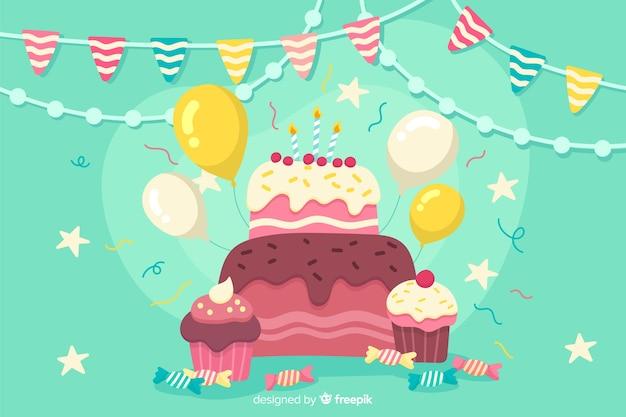 Tło szczęśliwy urodziny party