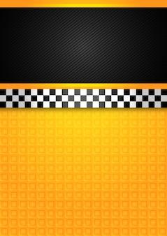 Tło taksówki